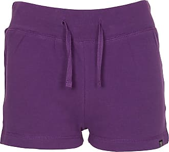 Noroze Womens Casual Summer Cotton Shorts (Purple, 10)