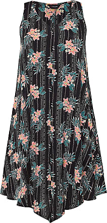 Yours Clothing Clothing Womens Plus Size Crinkle Swing Dress Size 30-32 Black