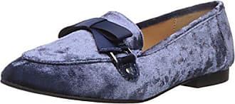 Qupid Womens REGENT-11 Loafer Flat, Dark Blue, 8 M US