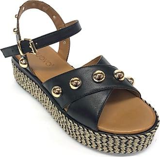 Inuovo Art 117024 Leather Studded Sandal Black Size: 7 UK