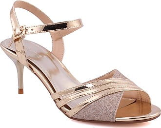 45bba9f195a Unze Unze Women Bella Kitten Heel Sandal Peep Toe Ankle Buckle Strap  Evening Dress Casual Party