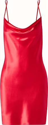 Fleur du Mal Draped Silk-charmeuse Mini Dress - Red