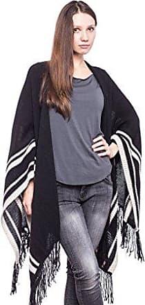 68bac76f704956 Abbino 8009 Poncho für Damen Frauen - Made in Italy - 3 Farben -  Damenponcho Cape