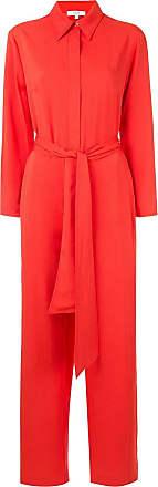 Layeur Macacão mangas longas com amarração - Vermelho