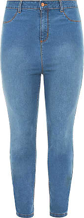 Yours Clothing Clothing Womens Kim Super High Rise Skinny Jeans Ladies Plus Size Size 30-32 Blue
