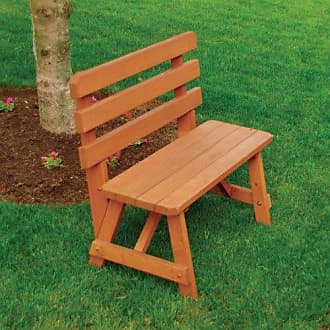 A & L Furniture A & L Furniture Yellow Pine Traditional Backed Bench, 3, Lime