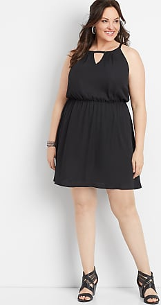 Maurices Plus Size - Solid Surplice Neck Skater Dress