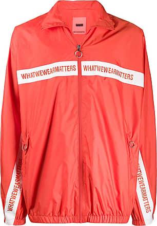 WWWM - What We Wear Matters Jaqueta com logo bordado - Laranja