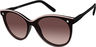 U.S.Polo Association U.S. Polo Assn. Womens PA5031 Cat-Eye Shield Sunglasses with Enamel Top Rim and 100% UV Protection, 55 mm