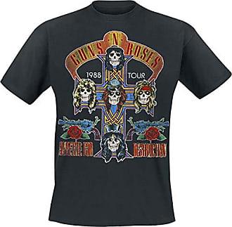 Guns N Roses Trashy Skull Logo Tour 2013 Axl Rose Slash Black Mens T-shirt