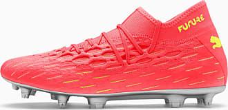 Puma Future 5.2 NetFit FG/AG Mens Football Boots, Peach/Fizzy Yellow, size 8.5, Shoes