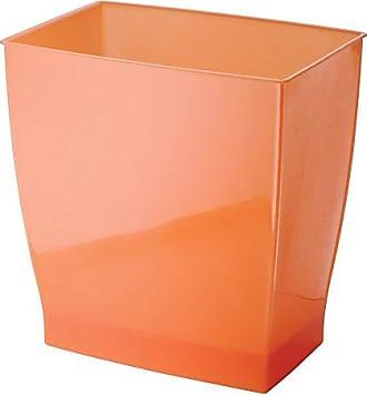 InterDesign InterDesign Spa Rectangular Trash Can, Waste Basket Garbage Can for Bathroom, Bedroom, Home Office, Dorm, College, 2.5 Gallon, Orange