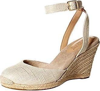 Aerosoles Womens Martha Stewart Meadow Wedge Sandal Natural Fabric 12 M US