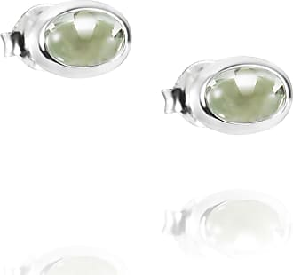 Efva Attling Love Bead Ear Silver - Green Quartz Earrings