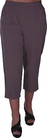 Eyecatch Verde Ladies Capri Crop Pants Flexi Stretch Plus Sizes Womens 3/4 Trousers Taupe Size 18