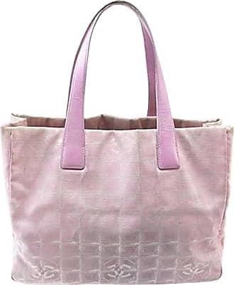 2e78a216321f Chanel New Line Mm 226702 Pink Nylon X Leather Tote
