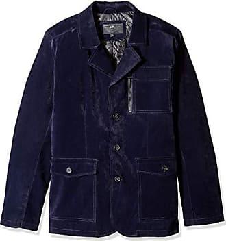 Urban Republic Mens Boys Trendy Pu Suede Jacket, Blue, S