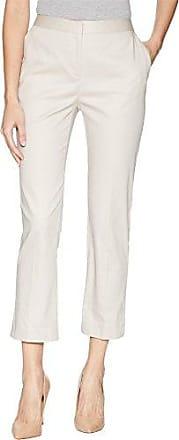 Ellen Tracy Womens Slim Leg Trouser with Side Slits, Sand, 8