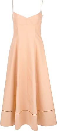 Khaite Vestido com fenda - Rosa