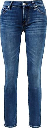 7 For All Mankind Jeans Roxanne Crop Mittelblau
