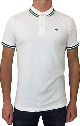 Weekend Offender Mens Pitbull Polo Shirt in White