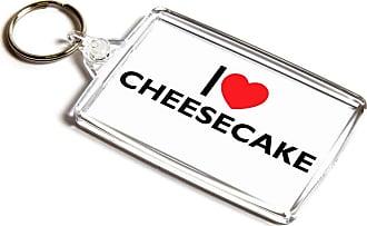 ILoveGifts KEYRING - I Love Cheesecake - Novelty Food & Drink Gift