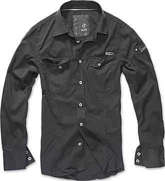 Brandit Slim Fit Shirt Longsleeve Black XXL