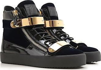 Giuseppe Zanotti Sneakers for Men On Sale in Outlet, Navy Blue, Velvet, 2017, 7.5