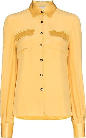 USISI SISTER Camisa Jacquetta com botões - Amarelo