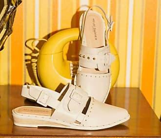 Kelsi Dagger Alex Flats Ivory WomenS Sandals 5.5