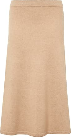 include Knitted skirt in new milled wool and cashmere include beige