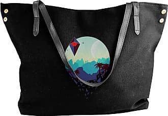 Juju No Mans Sky Womens Classic Shoulder Portable Big Tote Handbag Work Canvas Bags