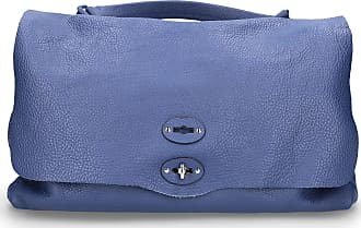 Zanellato Handbag POSTINA L leather embossed blue