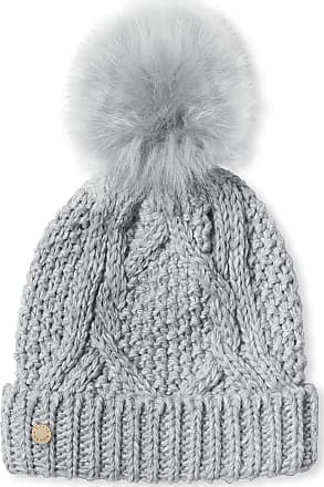 Katie Loxton Cable Knit Bobble Hat - Charcoal Grey