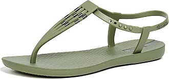 Ipanema Womens Sunray T-Strap Sandals Green Size: 10
