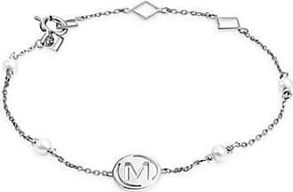 Misaki Bracelet chaine Me en argent avec perles de culture blanches