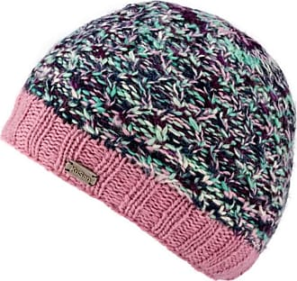 KuSan 100% Wool Double Cable Twisted Beanie Hat PK1828 (Pink)