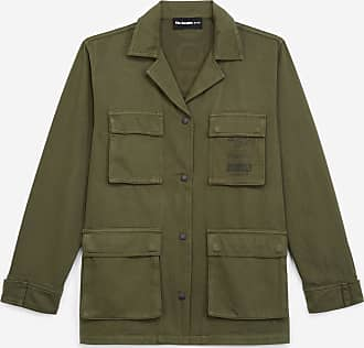 The Kooples Embroidered khaki jacket with flap pockets - WOMEN