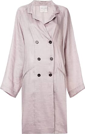 Forte_Forte double breasted trench coat - Pink