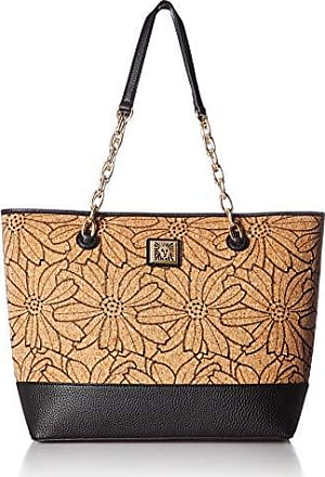 Anne Klein Womens Perfection Cork Tote, Black