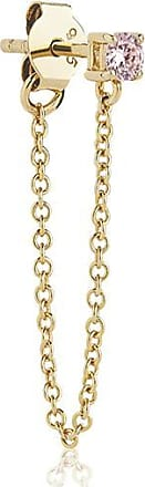 Sif Jakobs Jewellery Earrings Princess Piccolo Single Lungo - 18k gold plated with pink zirconia