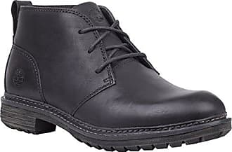 Timberland Mens Logan Bay Chukka Boot, Black Full Grain Leather, 7 Medium US