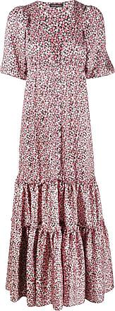 WANDERING Vestido longo floral com amarração - Rosa