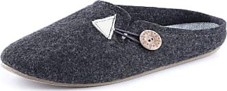 Ladeheid Women´s Felt Slippers Shoes Flipflops PFF085 (Dark Melange, 41 EU = 7.5 UK)