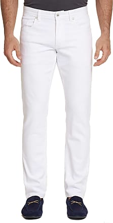 Robert Graham Mens Curtis Perfect Fit Jeans In White Size: 29W by Robert Graham