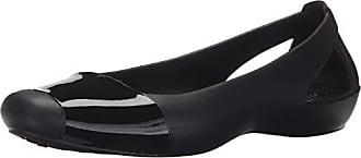 e84d011840f Crocs Crocs Sienna Shiny Flat, Damen Geschlossene Ballerinas, Schwarz  (Black/Black)