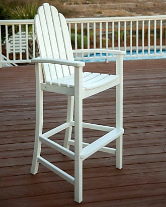POLYWOOD Outdoor POLYWOOD Adirondack Recycled Plastic Bar Height Chair Mahogany, Patio Furniture - ADD202MA