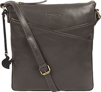 Pure Luxuries London Concka London Avril Womens 24cm Biodegradable Leather Cross Body Bag with Zip Over Top, 100% Cotton Lining and Adjustable Slimline Leather Strap in Sl