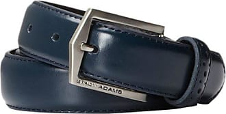 Stacy Adams Stacy Adams Mens 30mm Pinseal Leather Belt (Reg & Big Sizes), Blue, 34