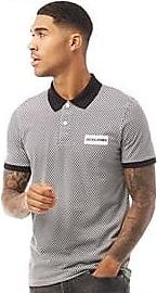 Jack & Jones short sleeve geometric print jersey polo